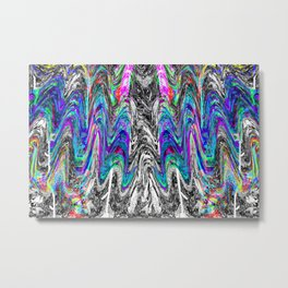 Abstract Portrait of a Migraine Aura 2 Metal Print