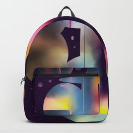 60s Mod Spaceship Abstract Backpack