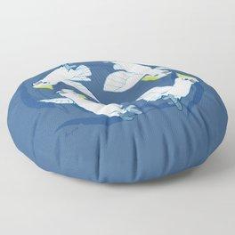 Cockatoo Angels (Blue) Floor Pillow