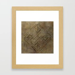 Binding Rune - Joy of Fortunes Engraved Framed Art Print