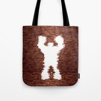 wreck it ralph Tote Bags featuring Wreck It - Ralph by albert Junior