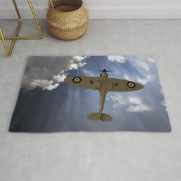 Aces High - Spitfire Vertical Climb Rug