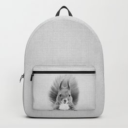 Squirrel 2 - Black & White Backpack