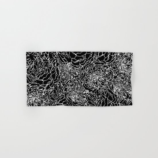Spring In White And Black Hand Bath Towel By Absentis Designs Society6
