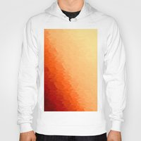 orange pattern Hoodies featuring Orange Ombre by SimplyChic