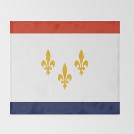 flag of new orleans,NOLA,Crescent City,Big Easy,Nawlins, jazz,Lousiana,french,cajun,treme Throw Blanket