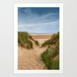 Down To The Beach Art Print