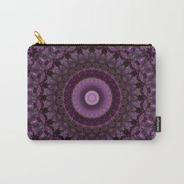 Ornamented mandala in pink and purple tones Carry-All Pouch