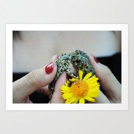 Frogs In Love Art Print