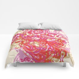 flower layers red Comforters