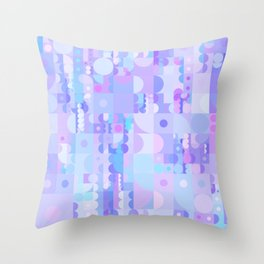 Funky Pastel Shapes Throw Pillow