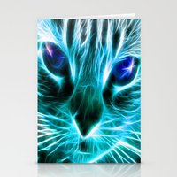 thundercats Stationery Cards featuring Lightining Cat by Augustinet