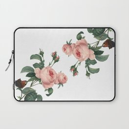 Butterflies in the Rose Garden on White Laptop Sleeve