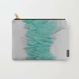 Teal Ruffle Carry-All Pouch