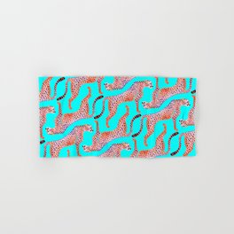 Cheetahs on Turquoise Hand & Bath Towel