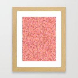 Pink Woven Burlap Texture Seamless Vector Pattern Framed Art Print