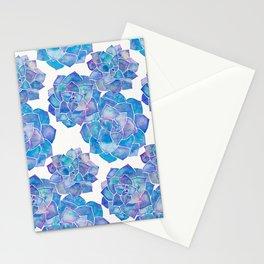 Rosette Succulents – Blue Palette Stationery Cards