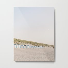 Row of beach houses in Texel, The Netherlands   Fine Art Travel Photography Metal Print