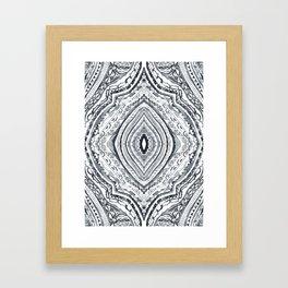 Black & White Diamond Framed Art Print