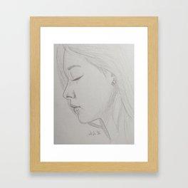 Tzuyu - Twice Framed Art Print
