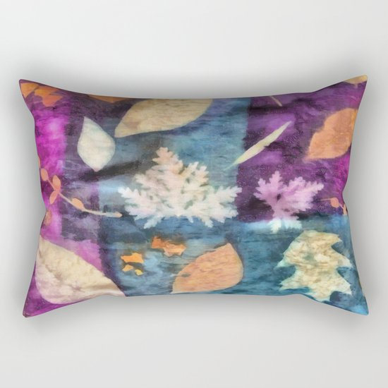 Colorful fallen leaves abstract Rectangular Pillow