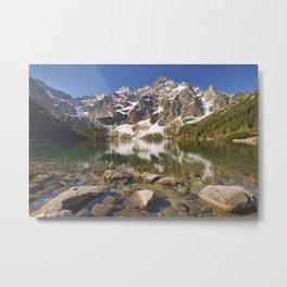 Morskie Oko lake in the Tatra Mountains, Poland Metal Print