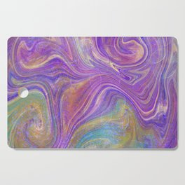 Fuchsia, green and teal abstract Cutting Board