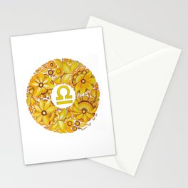 Libra in Petrykivka style (with signature) Stationery Cards