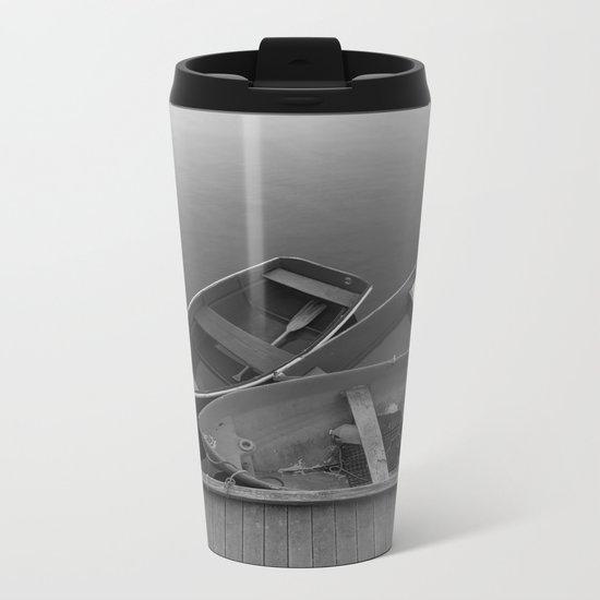 Four Skiffs B&W Metal Travel Mug