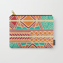 Tribal ethnic geometric pattern 027 Carry-All Pouch