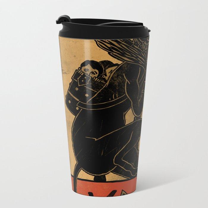 Merry Krampus Metal Travel Mug