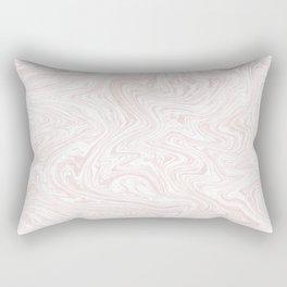 Rose Gold Marble Rectangular Pillow