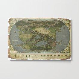 Map of Rendaraia Metal Print