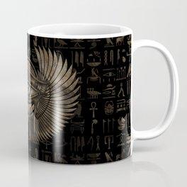 Egyptian Eye of Horus - Wadjet Vintage Gold Coffee Mug
