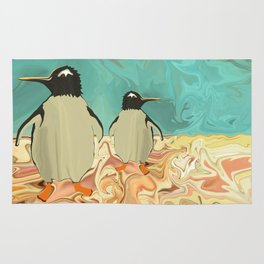 Penguins in Paradise Rug