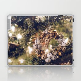 Jingle Bell Wreath on Christmas Tree (Color) Laptop & iPad Skin