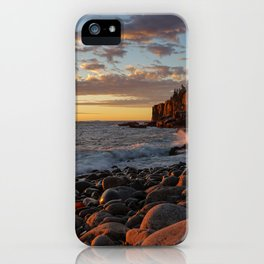 Sunrise at Otter Cliff III iPhone Case
