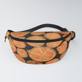 stack of wood Fanny Pack