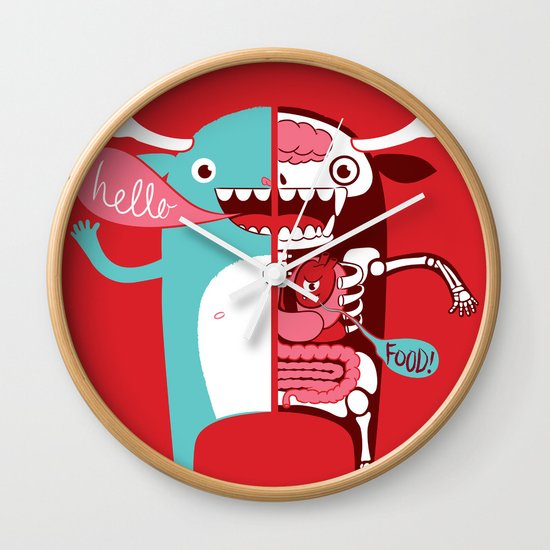 All monsters are the same! Wall Clock