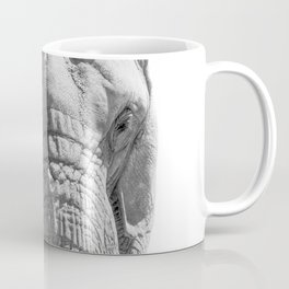 Elephant Portrait Photography B&W Coffee Mug