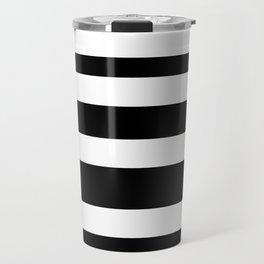 Stripes black Travel Mug