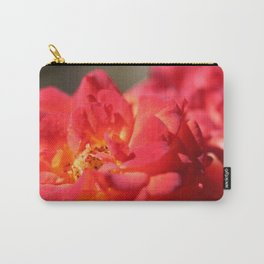Bright Red Flower Carry-All Pouch