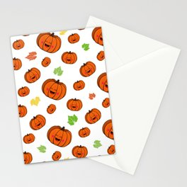 The happy pumpkin Stationery Cards