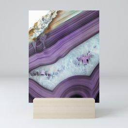 Purple Agate Slice Mini Art Print