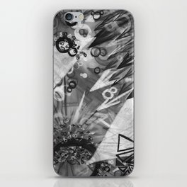 Abstract charcoal painting - Black and White iPhone Skin