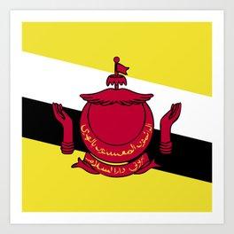 Brunei flag emblem Art Print