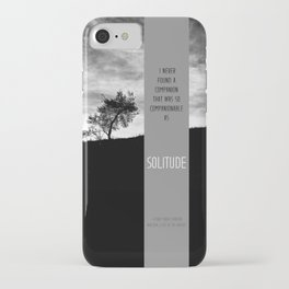 Henry David Thoreau - Solitude iPhone Case