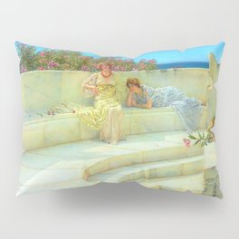 "Sir Lawrence Alma-Tadema ""Under the Roof of Blue Ionian Weather"" Pillow Sham"