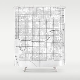 Minimal City Maps - Map Of Gilbert, Arizona, United States Shower Curtain