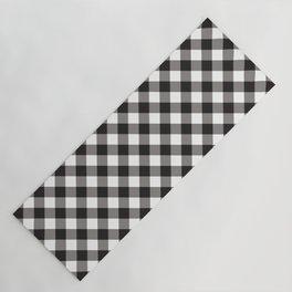 Gingham - Black Yoga Mat